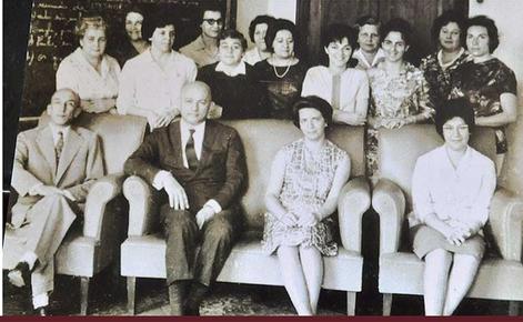 Funcionários na década de 1951