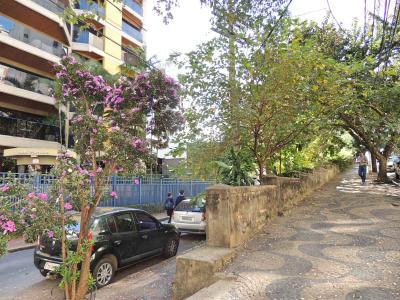 Imagens do Muro de arrimo nas ruas Guilherme da Silva e Alferes Domingos, Cambui, 2017.
