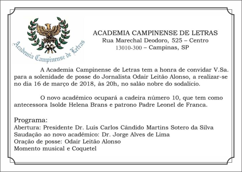 Convite Academia