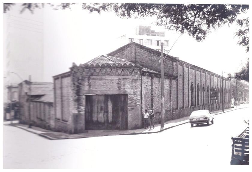 Edificio Lidgerwood antes do túnel Rua Lidgerwood esquina com Campos Sales - Fonte Projeto Museu da Cidade